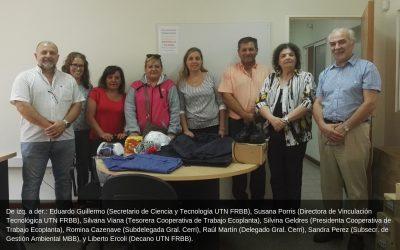 La Facultad trabaja con la Cooperativa de la Ecoplanta Gral. Cerri