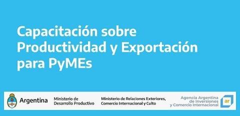 Capacitación sobre productividad y exportación para PyMEs